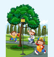 children in park vector image