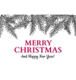 Christmas holiday greeting card with fir tree vector image