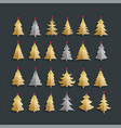 christmas tree icons set graphic design editable vector image
