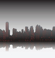 city on sunset vector image
