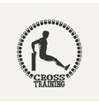 Cross Training man silhouet 2 logo vector image vector image