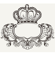 Crown Crest Composition vector image vector image