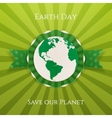 Earth Day realistic circle paper Banner vector image