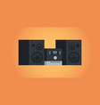 electric home audio systems sound device icon vector image