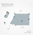 equatorial guinea infographic map vector image vector image
