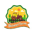 Farm logos design with grunge texture