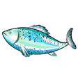 fish blue silhouette vector image vector image