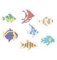 Fish with mosaic elements vector image vector image