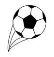 football soccer ball icon image vector image