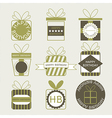 Gift boxes icons festive set vector image vector image