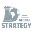 global strategy logo simple gray style vector image vector image
