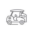 golf car line icon concept golf car linear vector image vector image