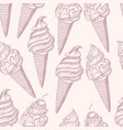 graphic seamless pattern with ice cream vector image vector image