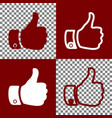 hand sign bordo and white vector image vector image