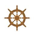 handwheel isolated rudderl ship on white vector image vector image