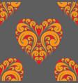 heart poker pattern vector image vector image