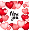 hearts i love you vector image vector image