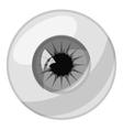 Human eye ball icon gray monochrome style vector image vector image