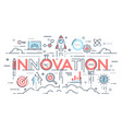 innovation new ideas creativity and technology vector image vector image