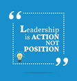 Inspirational motivational quote Leadership is vector image vector image