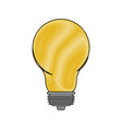 light bulb icon in color crayon silhouette vector image vector image