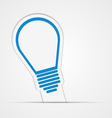 Light bulb sticker Isolated vector image vector image