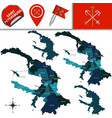 map saint petersburg with districts vector image vector image