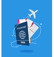 modern and realistic airline ticket design stock vector image vector image