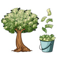 Money grows on tree vector image vector image