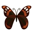 Multicolored butterfly icon cartoon style vector image vector image