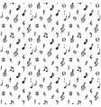music note seamless pattern hand drawn sketched vector image