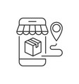 package delivery from mobile shopping editable vector image