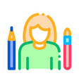 painter human talent icon vector image