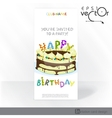 Party Invitation Card Design Template vector image vector image