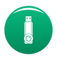 plastic flash drive icon green vector image vector image