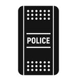 police shield icon simple style vector image