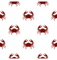 red sea crab pattern seamless vector image