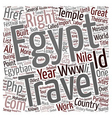 Right travel describes the history of Egypt text vector image vector image