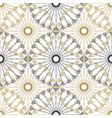 seamless geometric vintage pattern black and gold vector image vector image