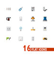 set of 16 editable instruments icons includes vector image vector image