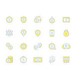 set of colored bitcoin icons investments vector image vector image