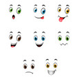 set of different cute emoticons vector image vector image