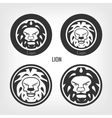 Set of lions vector image vector image