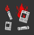 set symbols newspaper hot news vector image vector image