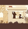 shed startup business vector image