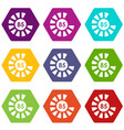 sign 85 load icon set color hexahedron vector image vector image