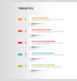 simple timeline template with white labels vector image vector image
