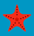 starfish in flat style marine icon in cartoon vector image vector image