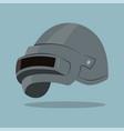 steel helmet vector image vector image