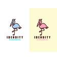 stork logo line art monoline outline vector image vector image